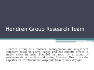 Hendren group tokyo japan research team