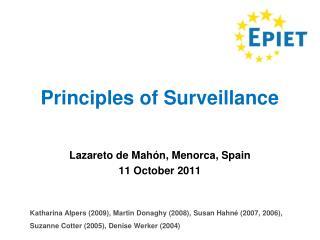 Principles of Surveillance