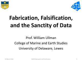 Fabrication, Falsification, and the Sanctity of Data