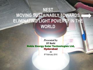 NEST-Aishwarya    World s 1 Solar Lantern Brand