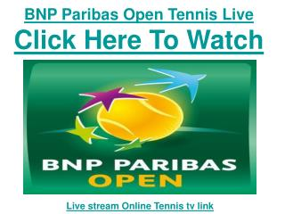 Watch BNP Paribas Open Tennis 2011 | live Streaming Matches