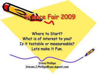 Science Fair 2009