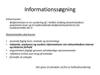Informationss gning