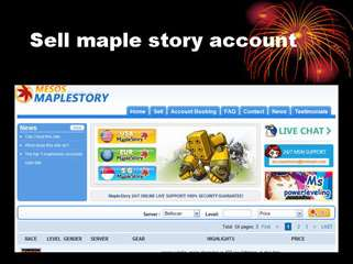 buy maple story account