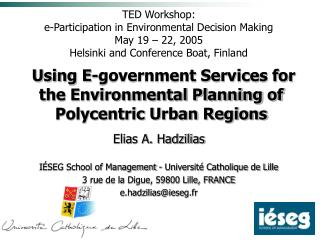 Using E-government Services for the Environmental Planning of Polycentric Urban Regions