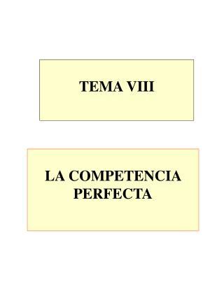 TEMA VIII