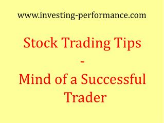 Stock Trading Tips -- Trading Expectations