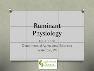 Ruminant Physiology