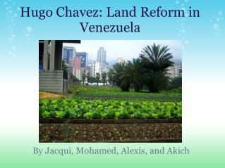 Hugo Chavez: Land Reform in Venezuela