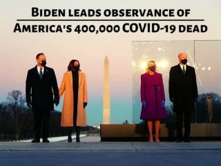 Biden leads observance of America's 400,000 COVID-19 dead