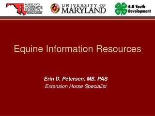 Equine Information Resources