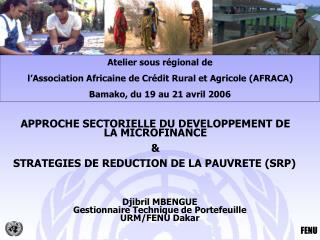 APPROCHE SECTORIELLE DU DEVELOPPEMENT DE LA MICROFINANCE  STRATEGIES DE REDUCTION DE LA PAUVRETE SRP