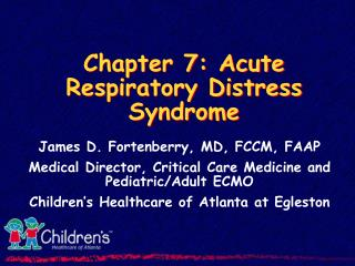 Chapter 7: Acute Respiratory Distress Syndrome