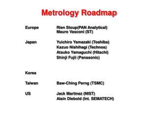 Metrology Roadmap