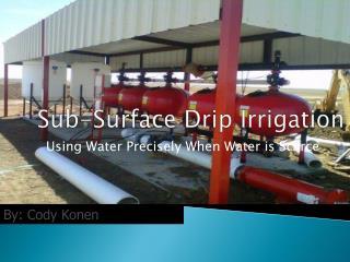 Sub-Surface Drip Irrigation