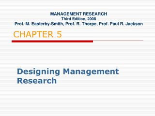 Designing Management Research