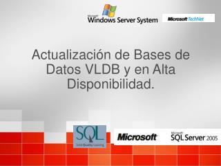 Actualizaci n de Bases de Datos VLDB y en Alta Disponibilidad.