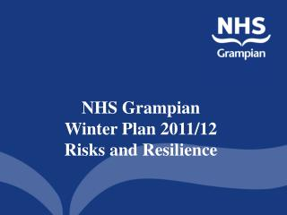 NHS Grampian  Winter Plan 2011