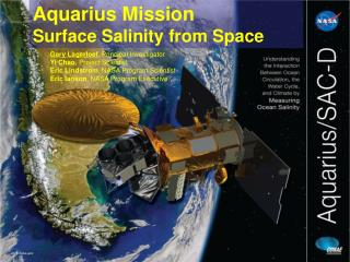 Aquarius Mission Surface Salinity from Space