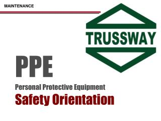 PPE Personal Protective Equipment Safety Orientation