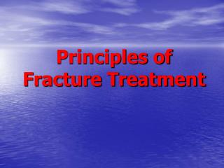 Principles of Fracture Treatment