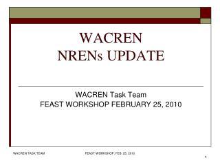 WACREN  NRENs UPDATE