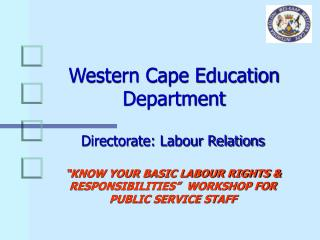 Western Cape Education Department