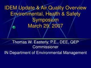 Water Quality Standards Program Update November 29, 2007
