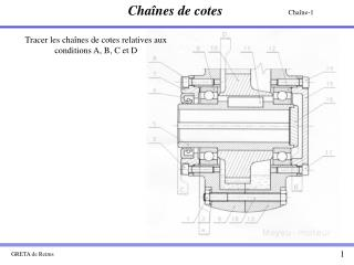 Tracer les cha nes de cotes relatives aux conditions A, B, C et D