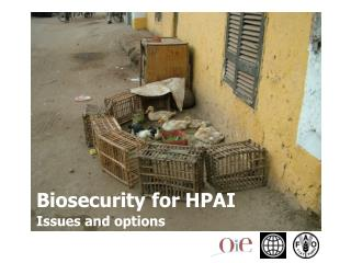 Section 1 The importance of biosecurity for HPAI  Section 2 General issues of biosecurity for HPAI  Section 3 Specific i