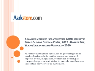 Advanced Metering Infrastructure (AMI) Market in Smart Grid