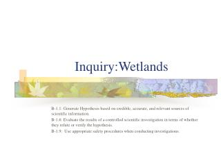 Inquiry:Wetlands