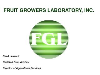 FRUIT GROWERS LABORATORY, INC.