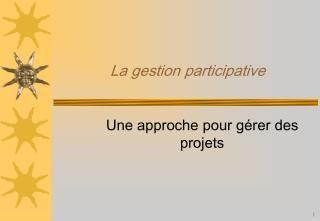 La gestion participative