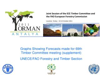 Graphs Showing Forecasts made for 69th Timber Committee meeting supplement UNECE