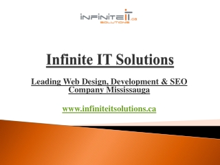 Infinite IT Solutions –Web Design & SEO Company Mississauga