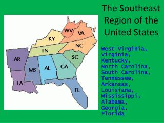 The Southeast Region of the United States