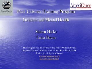 Peer Listener Training Program