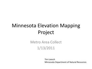 Minnesota Elevation Mapping Project