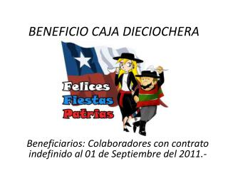 BENEFICIO CAJA DIECIOCHERA