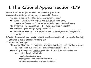 I. The Rational Appeal section -179