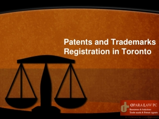 Patents and Trademarks Registration in Toronto
