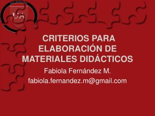 CRITERIOS PARA ELABORACI N DE MATERIALES DID CTICOS