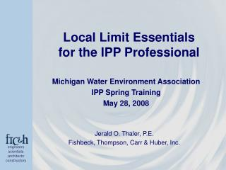 Local Limit Essentials for the IPP Professional