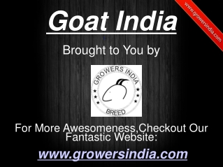 Goat India
