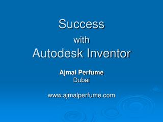 Success  with  Autodesk Inventor