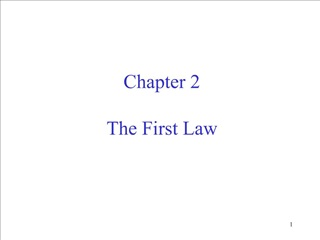 Chapter 2  The First Law