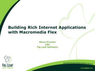 Building Rich Internet Applications with Macromedia Flex