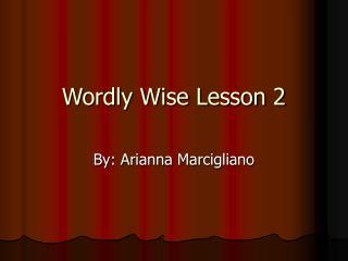 Wordly Wise Lesson 2