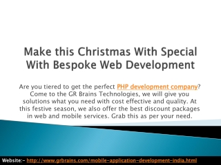 Make this Christmas With Special With Bespoke Web